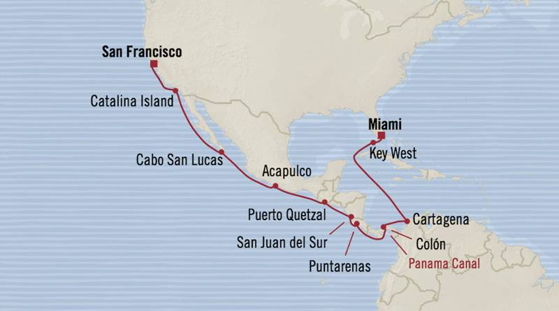 Von San Francisco nach Miami durch den Panama Kanal, ab 5119 € p.P.