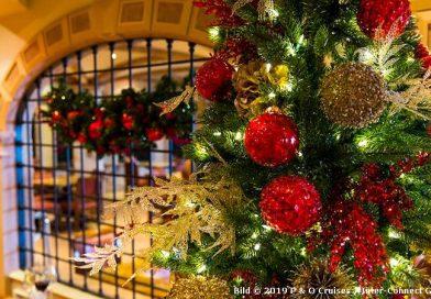 Weihnachten an Bord von P&O Cruises