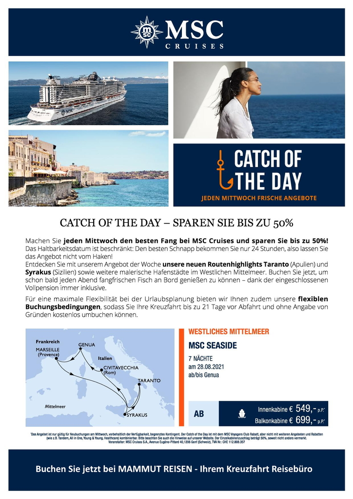 MSC Catch of the Day Flyer
